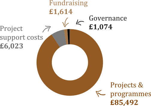 Expenditure pie-chart (2014-15)